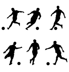 Soccer football players silhouettes vector image vector image