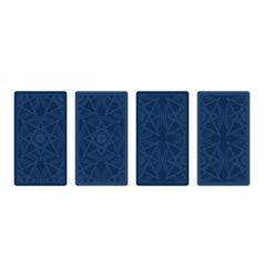 Tarot card reverse side Classic designs vector image