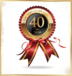 40 years anniversary label vector image