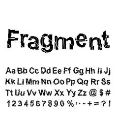 Abstract fragment font vector image vector image
