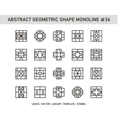 Abstract geometric shape monoline 36 vector