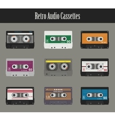 Audio cassette Flat tapes vector image