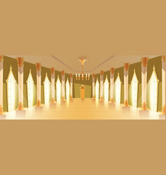 Ballroom hall with chandelier vector