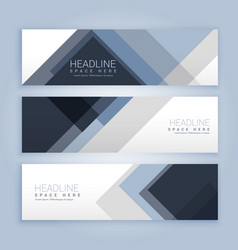 Banners set with abstract shapes vector