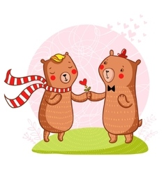 bear in love vector image