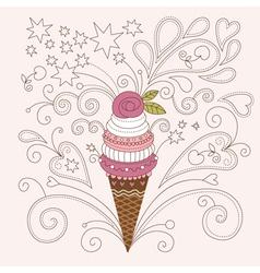Beauty ice cream vector