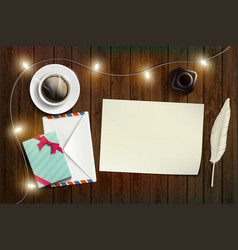 blank sheet of paper new year or christmas card vector image