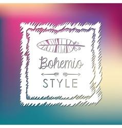 Bohemio design Spirit concept Flat vector image