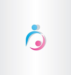 boyfriend and girlfriend dancing icon sign logo vector image