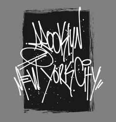 Brooklyn mew york lettering typography t-shirt vector