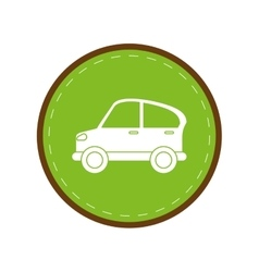 Car transport industry contamination icon green vector