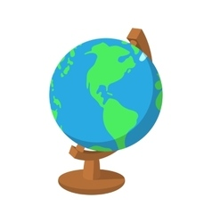 Cartoon globe icon vector