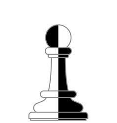 Chess pawn abstract vector