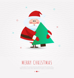 christmas concept with funny santa claus vector image