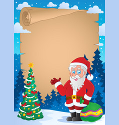 Christmas thematic parchment 1 vector