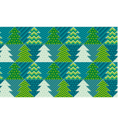 Christmas tree textile vector