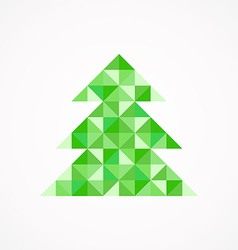 Christmas tree8 vector image vector image