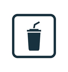 coffee icon Rounded squares button vector image