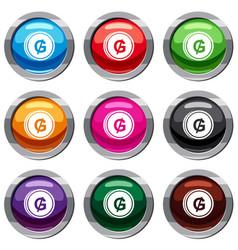 Coin guarani set 9 collection vector