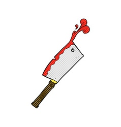 comic cartoon meat cleaver vector image