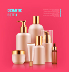 Cosmetic bottle realistic vector