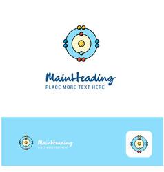 creative atoms logo design flat color logo place vector image