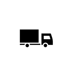 delivery truck icon solid vehicle and vector image