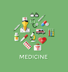 digital green red nurse vector image