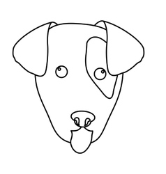 dog face icon vector image
