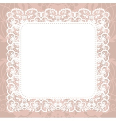 Elegant doily on lace gentle background vector
