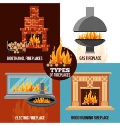 Fireplaces Design Concept vector