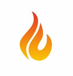 Flame logo fire icon fire logo design vector