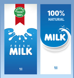 fresh milk design template package vector image