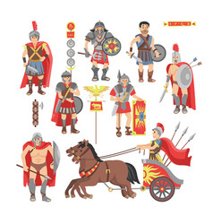 Gladiator roman warrior man character in vector