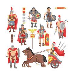 Gladiator roman warrior man character vector
