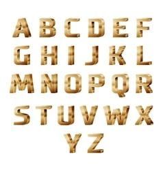 Golden 3D alphabet vector