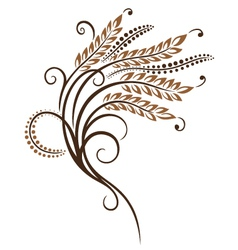 Grain corn bakery vector