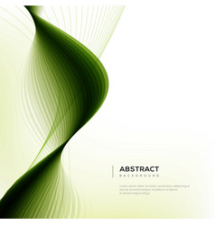 green waves abstract background vector image