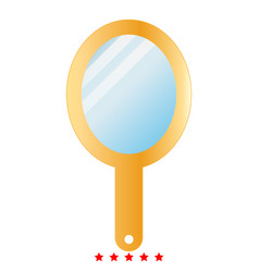hand mirror icon color fill style vector image vector image