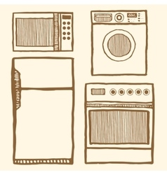 Home appliances set vector image vector image