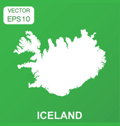 iceland map icon business concept iceland vector image