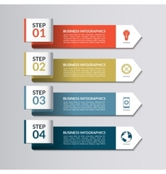 Infographic template Curved paper arrows vector