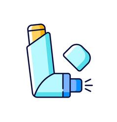 Inhaler rgb color icon vector