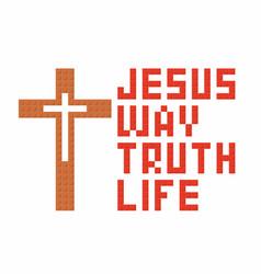 Jesus way truth life vector