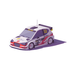 Low poly rally racing car vector