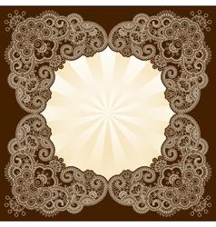 Mehndi frame vector image