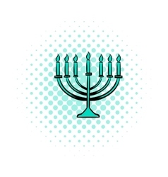 Menorah comics icon vector