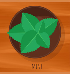 mint flat design icon vector image