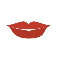 mouth lips cartoon vector image
