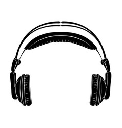Musical earphones vector